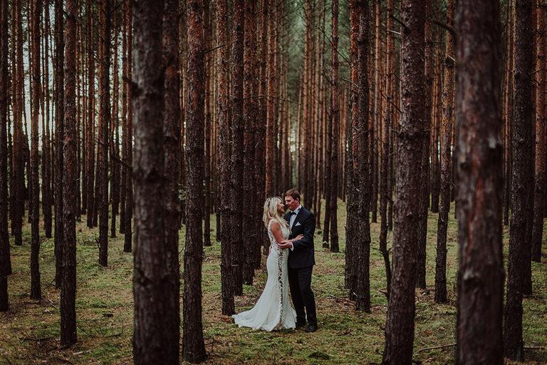 Plener ślubny w lesie – Agnieszka + Kamil