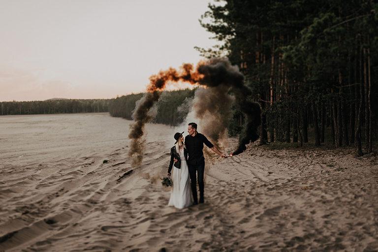 Plener ślubny w czerni – Anita + Krzysiek